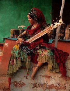 4 Wed Words -- gypsy girl